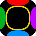 App Icon (colored squircle shapes for list items)