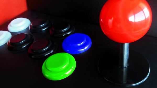 Photo: joystick and button controls